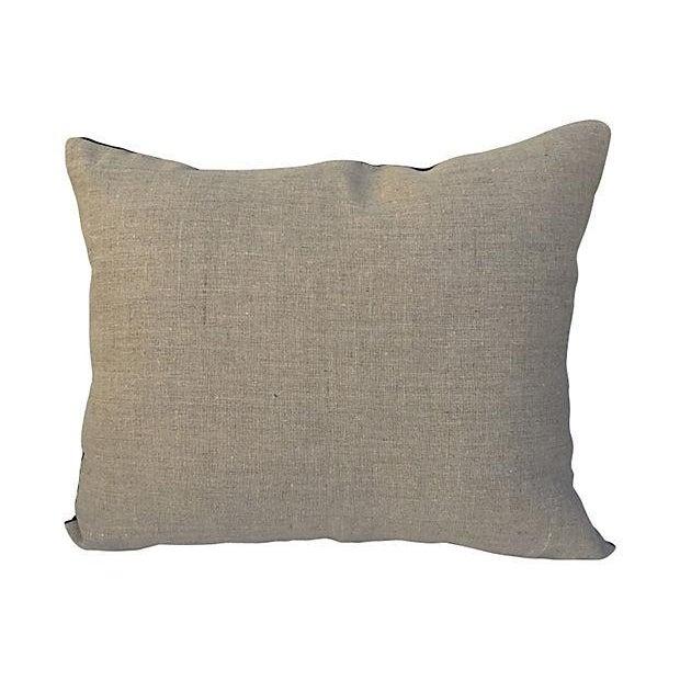 African Indigo Striped Pillows - A Pair - Image 4 of 6