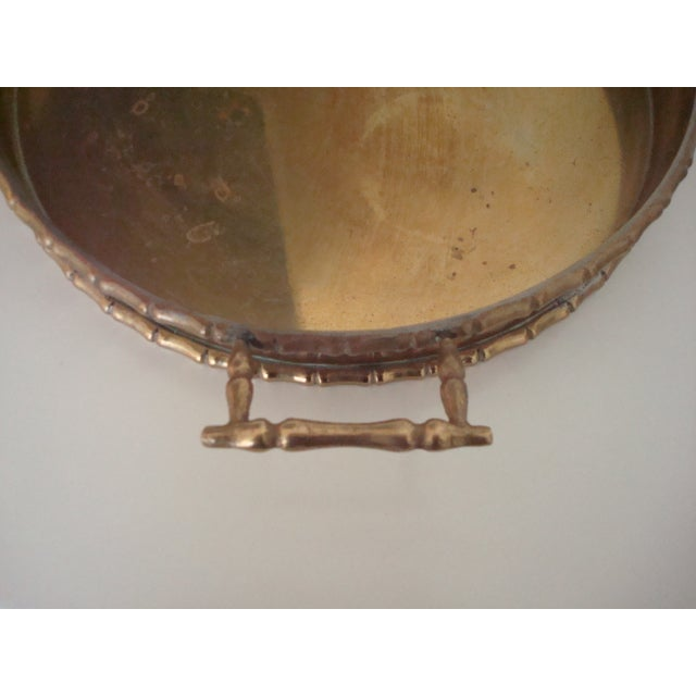 Round Faux Bamboo Tray - Image 6 of 6