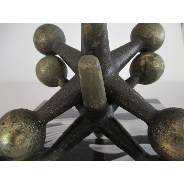 Image of Cast Iron Jacks Bookends Bill Curry Mid Century