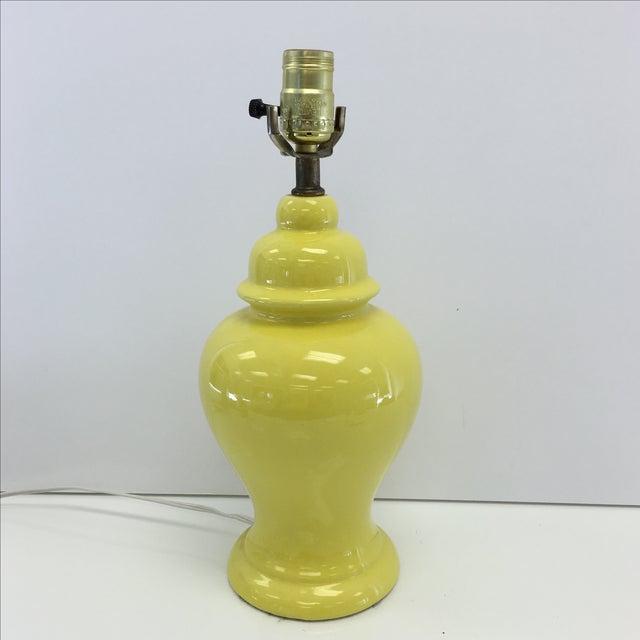 Image of Vintage Yellow Ginger Jar Lamp