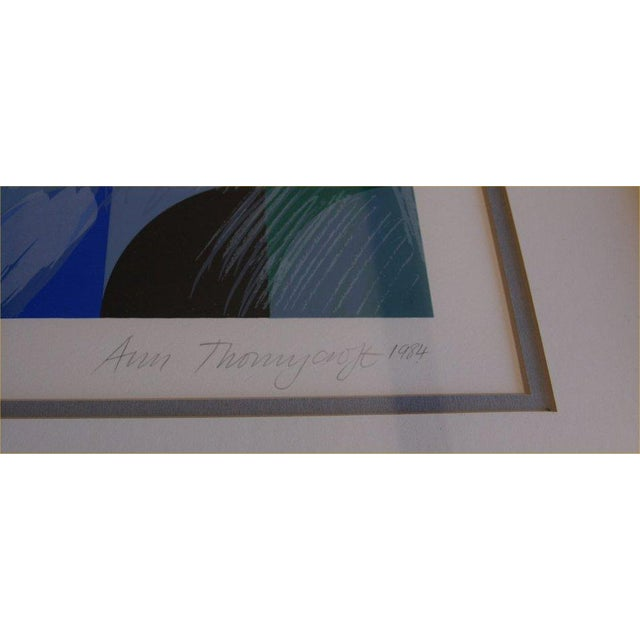 """Ann Thornycroft Abstract Lithograph Titled """"Anel"""" - Image 4 of 6"""