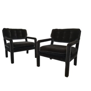 Milo Baughman Parsons-Style Lounge Chairs - A Pair