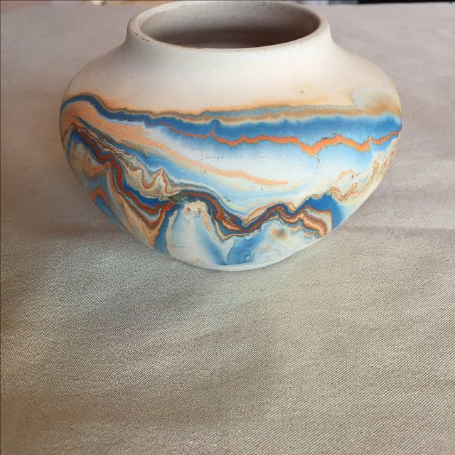 Nemadji Native American Marbelized Vase - Image 4 of 8