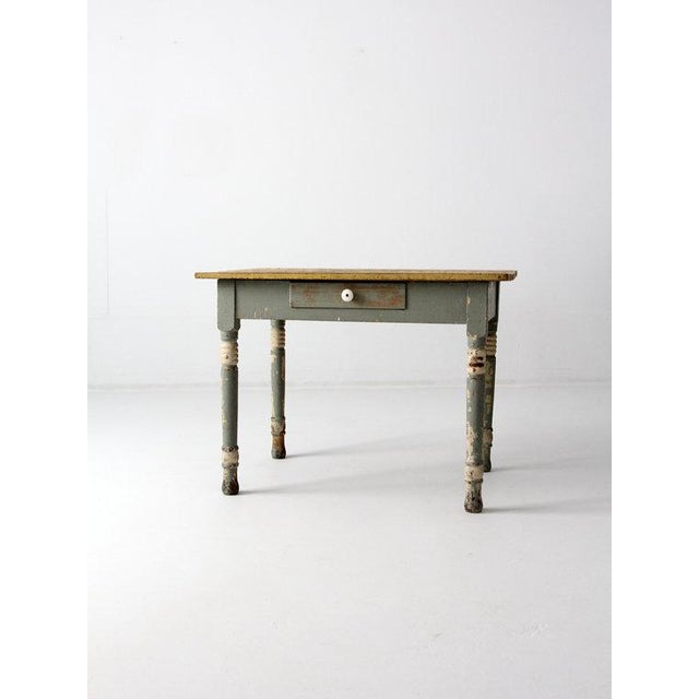 Antique American Painted Wood Table - Image 2 of 6