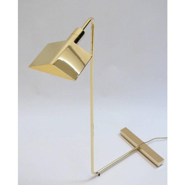 Cedric Hartman Polished Brass Reading Lamp - Image 2 of 8