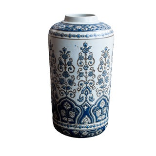 Zodax Tall Palmette Ceramic Vase