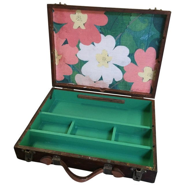Vintage Artist Box With Green Interior - Image 1 of 7