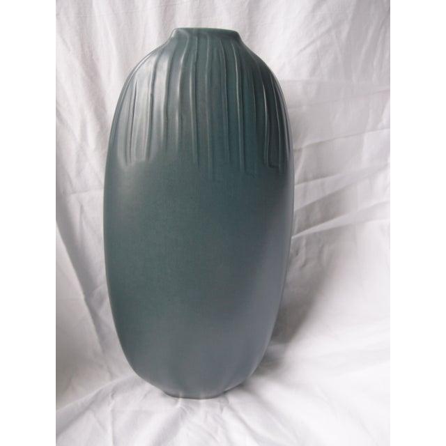 Image of Blue Ceramic Vase