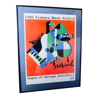California Rock N Roll Music Festival Poster Print Ventura