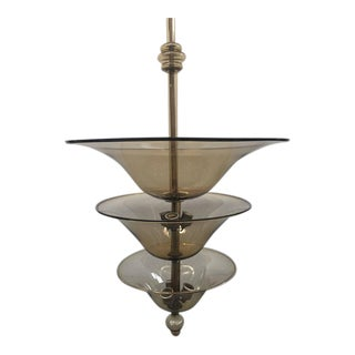 Zecchin and Martinuzzi Attributed Murano Glass Chandelier