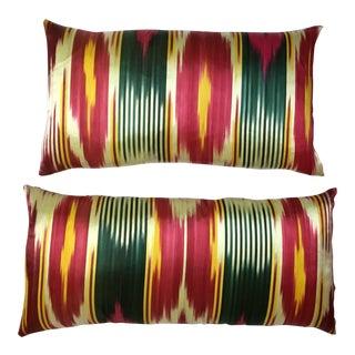 Vintage Silk Ikat Pillows - A Pair