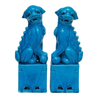 Vintage Chinese Foo Dogs Bookends - A Pair