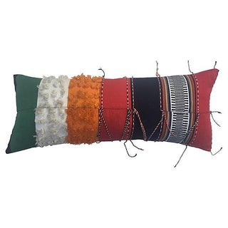 African Ceremonial Textile Pillow