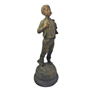 French Metal Figure of a Child