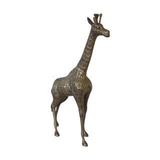 Vintage Brass Tall Giraffe