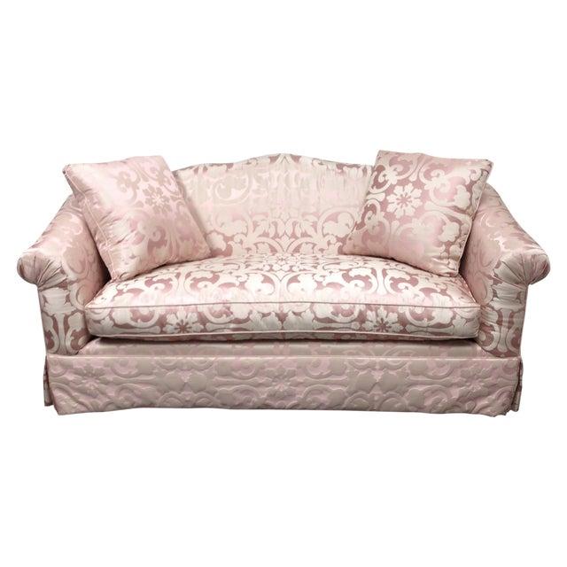 Custom Designed Upholstered Silk Sofa Chairish