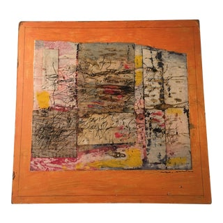 Abstract Acrylic on Paper Collage Signed Ronald Ahlstrom, 1970s