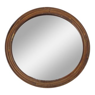 Handmade Round Wicker Mirror