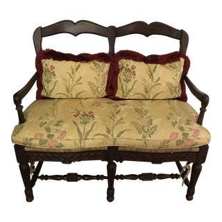 Dark Wood Bench in the French Style