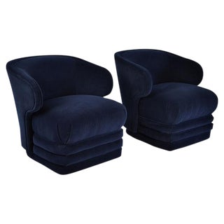Bernhardt Modern Club Chairs - A Pair