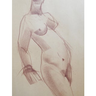 1940s Cubist Figurative Drawing