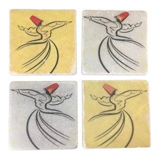 Whirling Derwish Coasters- Set of 4