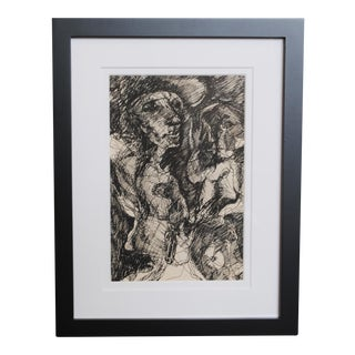 1960s Expressionist Drawing, I