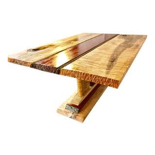 Tiger Maple & Bubinga Wood Coffee Table