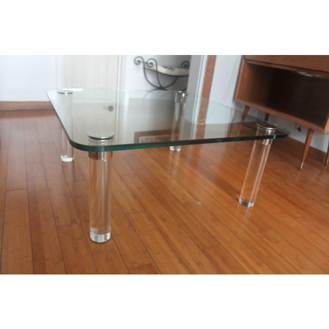 Pace Collection Lucite Chrome Legs Coffee Table Chairish