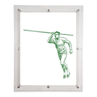 Mitchell Black Home Green Javelin Art