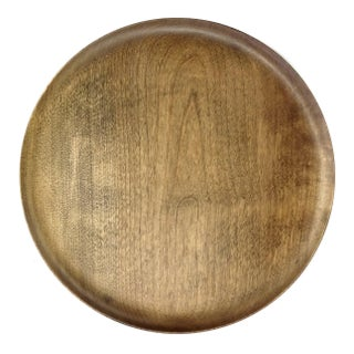 Vintage Hand Turned Wood Charger