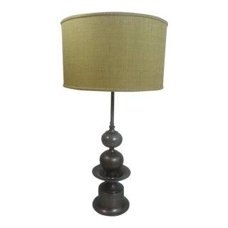Pair of Italian Moorish/ Moroccan Stacked Ball Table Lamps