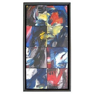Eight-Piece Abstract Oil Painting on Canvas