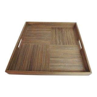 Large Square Bamboo Serving Tray
