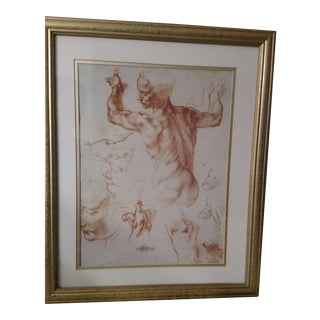 Framed Michelangelo Anatomy Print