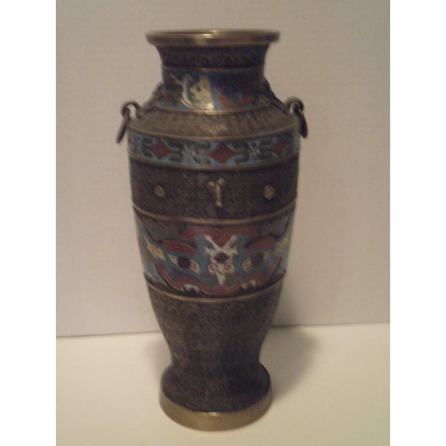 Large Antique Champleve Urn - Image 4 of 11