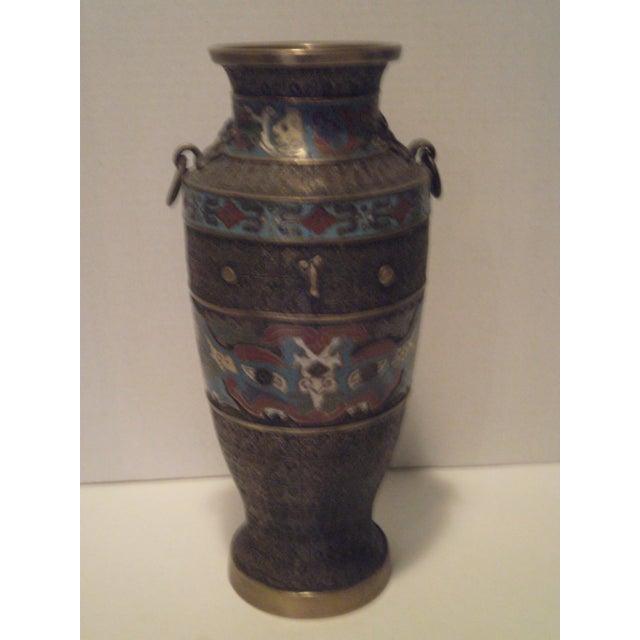 Image of Large Antique Champleve Urn