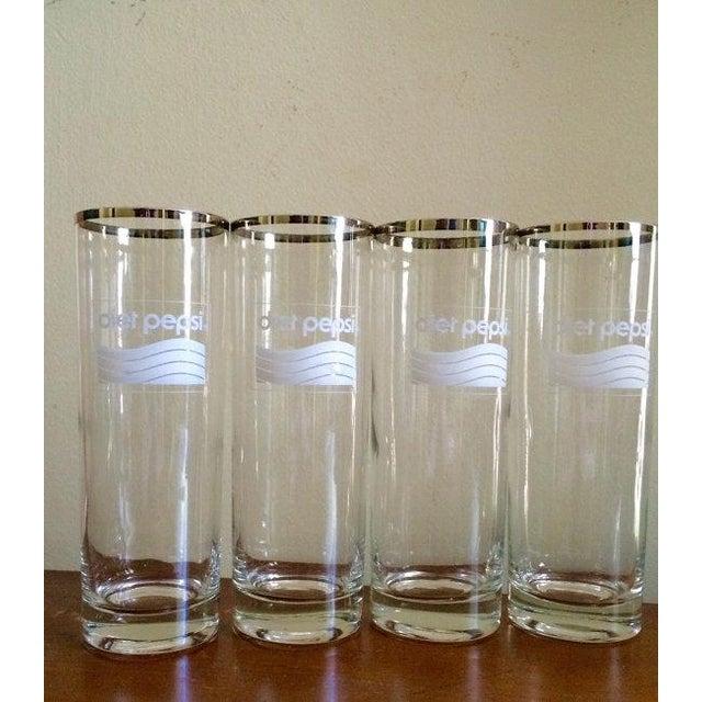 Silver Rimmed Diet Pepsi Glassware - Set of 4 - Image 2 of 4