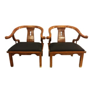 James Mont Style for Century Horseshoe Chairs - a Pair