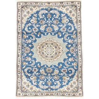 "Fine Persian Nain Silk & Wool Rug - 2'9"" X 4'1"""