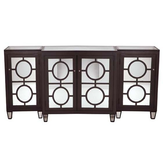 Modern Mirrored Buffet - 3 Pieces - Image 1 of 4