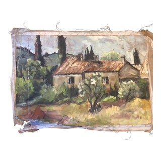 Vintage French Impressionistic Landscape Painting