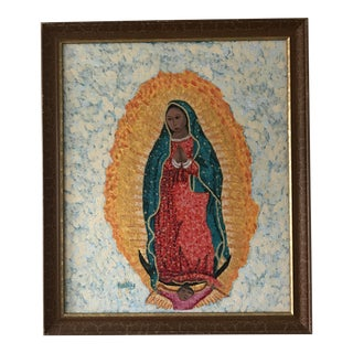 Our Lady of Guadalupe Mexican Folk Art Painting