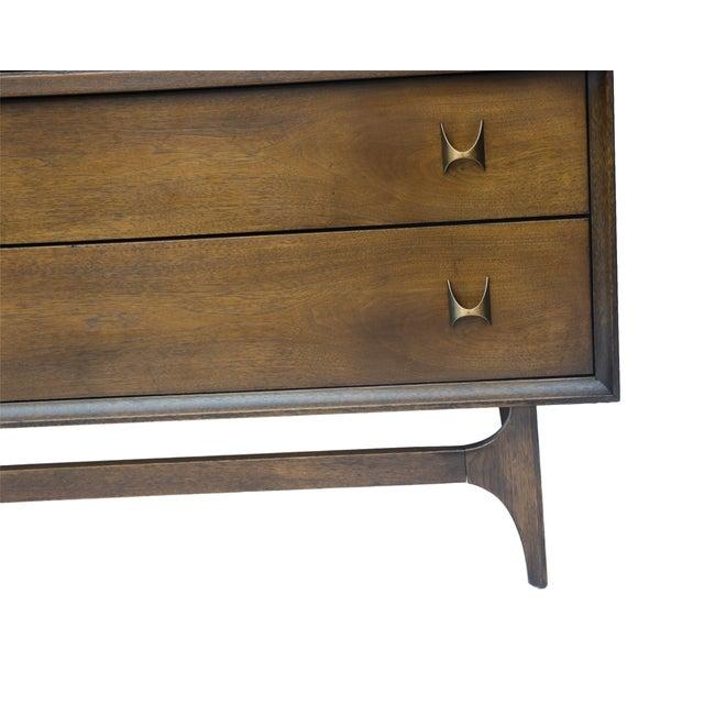 Mid-Century Brasilia Broyhill Highboy Dresser - Image 7 of 10