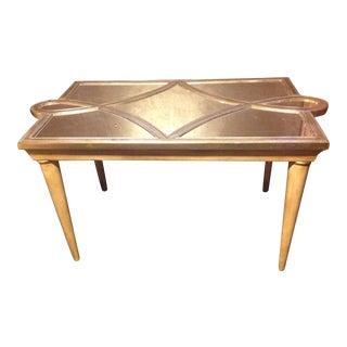 Hollywood Regency Modern Mirror Top Table