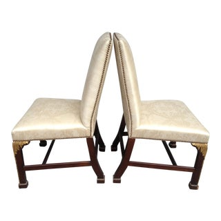 Baker Stately Homes Regency Accent Chairs - A Pair