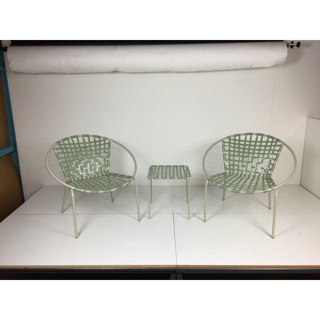 Mid-Century Green Hoop Chairs - A Pair - Image 2 of 8