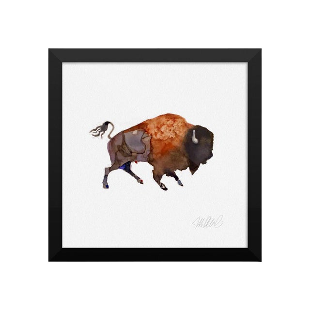 Framed Watercolor Animal Print - Image 1 of 2