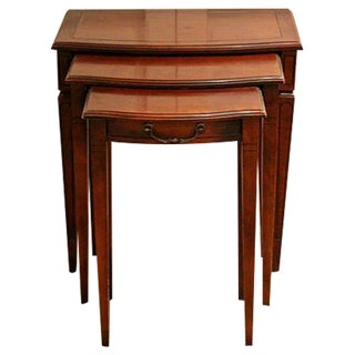 Vintage Federal-Style Nesting Tables, Set of 3