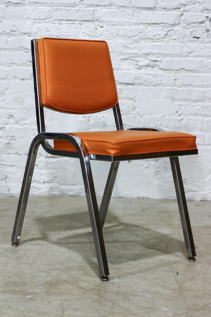modern orange cafe chair chairish